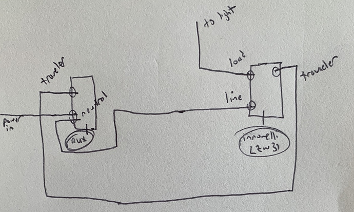 Another 3 Way Non-neutral - Wiring Discussion