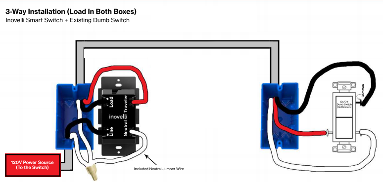Wiring A Red Series Dimmer Switch With Power From Light For 3 Way Wiring Discussion Inovelli Community