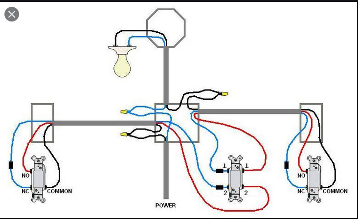 4 way switch wiring diagram with dimmer 4 way help without direct access to power wire wiring discussion  4 way help without direct access to