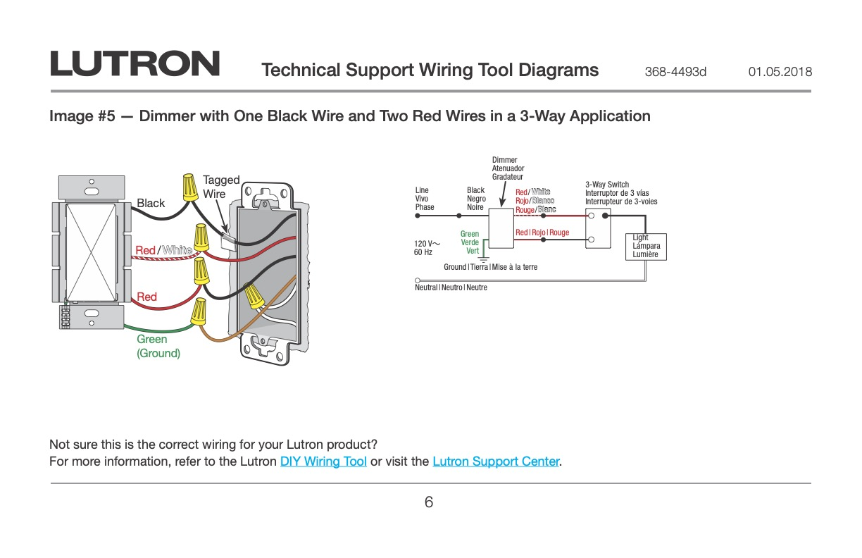 Lutron 3-Way Dimmer to Red Dimmer - Wiring Discussion - Inovelli CommunityInovelli Community