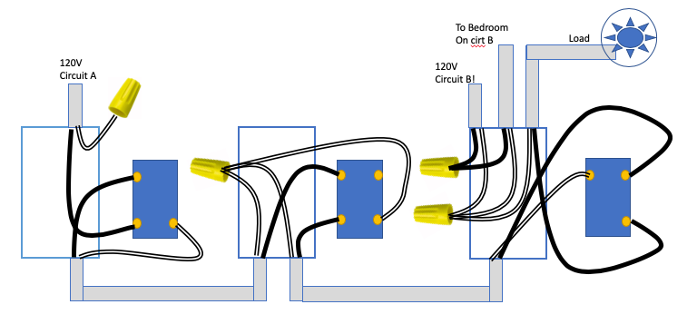 4way switch using 14/2 wires - Why didn't my house burn down? - Wiring  Discussion - Inovelli CommunityInovelli Community